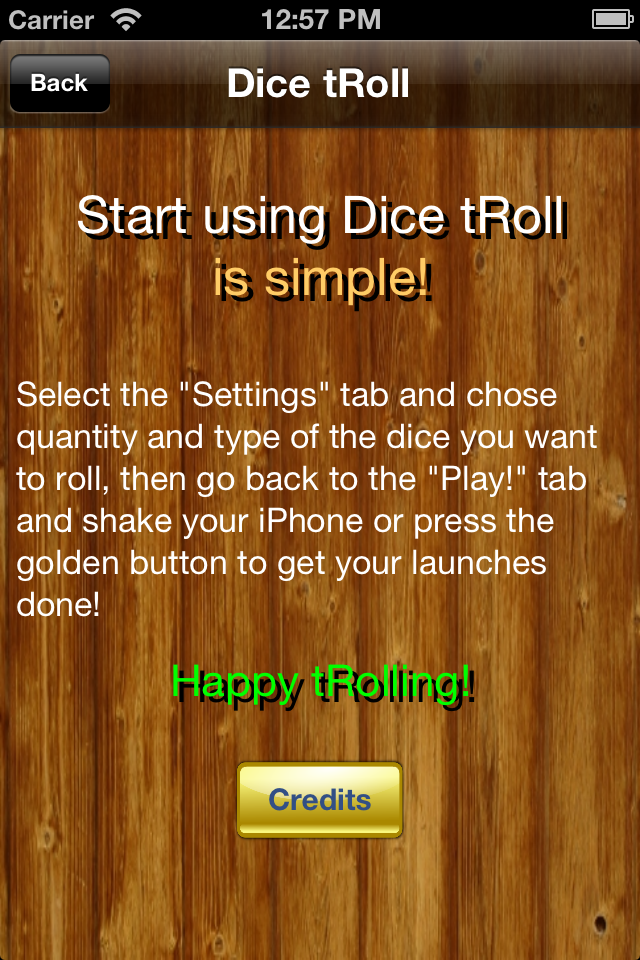 Screenshot Dice tRoll